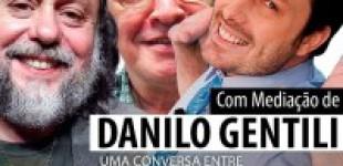 """Caio Fábio, Danilo Gentili e Olavo de Carvalho discutem a """"necessidade de tirar o PT do poder""""; Assista"""